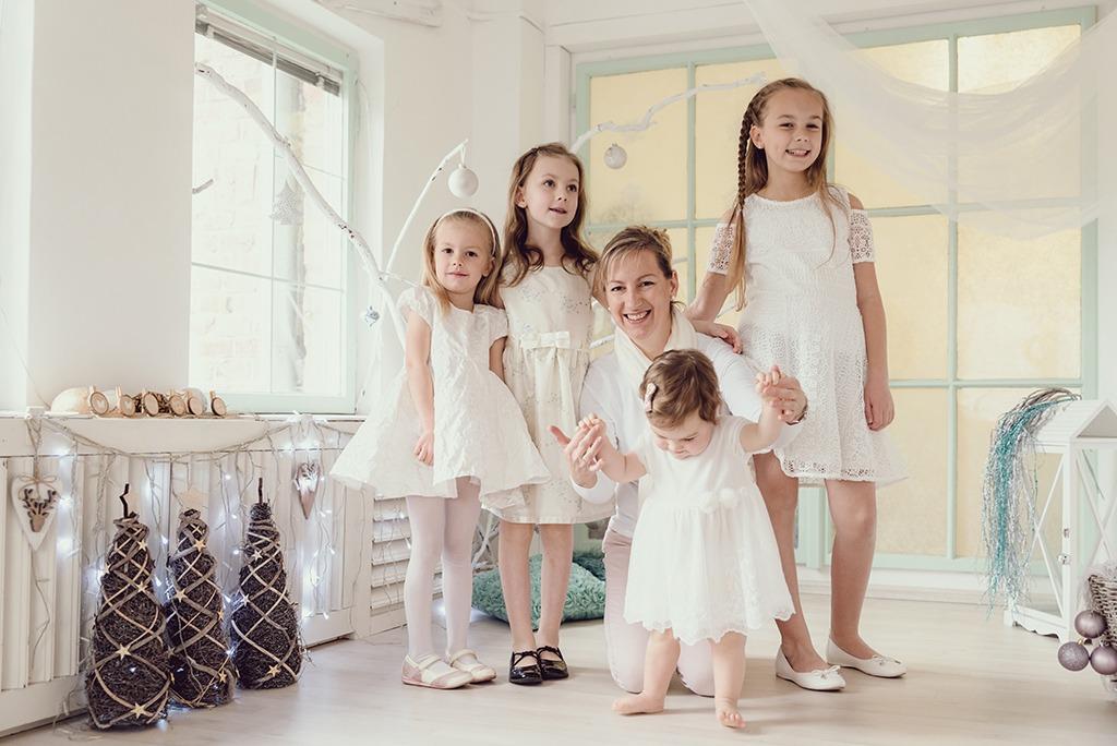 műtermi családi fotózás